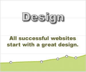 Image using light green graph rising from left to right with large font Design text.